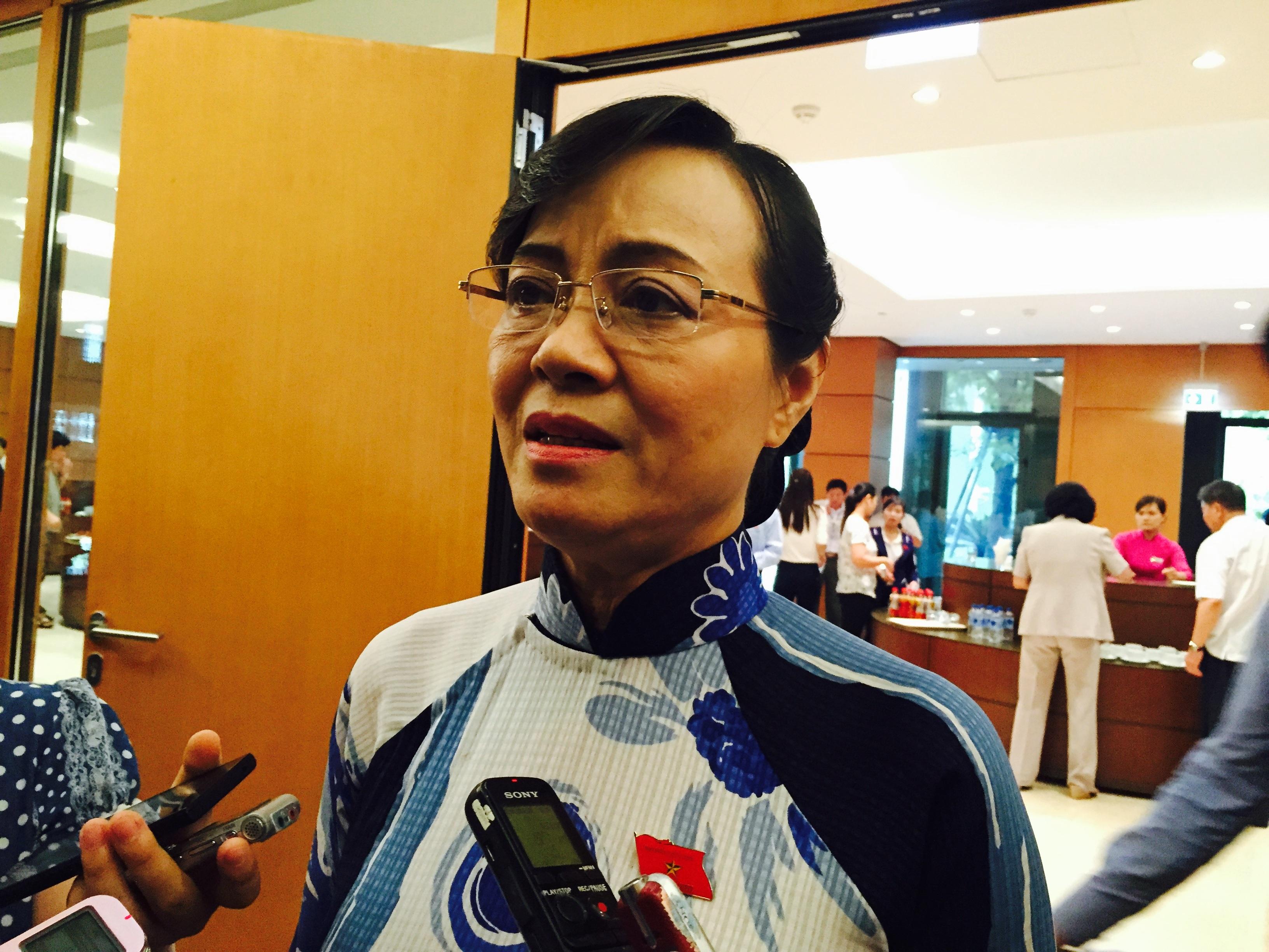 Đại biểu Nguyễn Thị Quyết Tâm (đoàn TPHCM). Ảnh: NH.