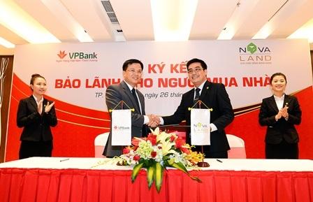 """Novaland và VPBank """"bắt tay"""" bảo lãnh cho người mua nhà"""