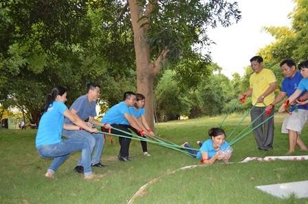 Cán bộ quản lý trẻ của Tập đoàn C.T Group trong chương trình tập huấn.