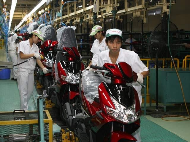 Dây chuyền sản xuất xe máy tại một công ty FDI tại Việt Nam. Ảnh: Viết Thanh