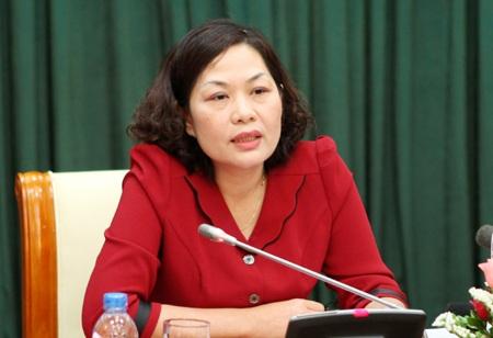 Phó Thống đốc NHNN Nguyễn Thị Hồng.