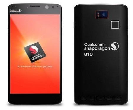 """Smartphone mẫu sử dụng chip Snapdragon 810 được trang bị cấu hình cực """"khủng"""""""