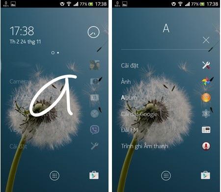 Z Launcher có khả năng sắp xếp ứng dụng dựa theo thói quen của người dùng trong từng mốc thời gian