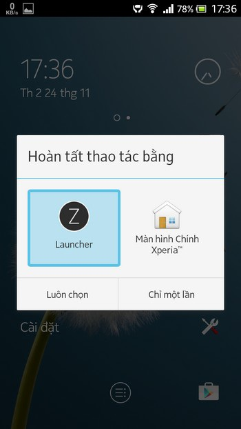 Để quay trở lại giao diện mặc định cũ của thiết bị, bạn chỉ việc gỡ bỏ ứng dụng Z Launcher.