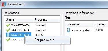 Từ hộp thoại hiện ra, điền mật khẩu bảo vệ và nhấn nút Set.