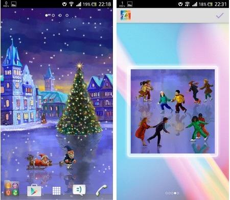 Khoác áo mới đón Giáng sinh cho thiết bị chạy Android