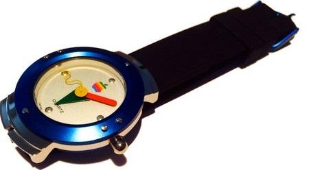 """Đồng hồ đầu tiên của Apple có thiết kế nhiều màu sắc, với logo """"táo khuyết"""" ở trên mặt"""