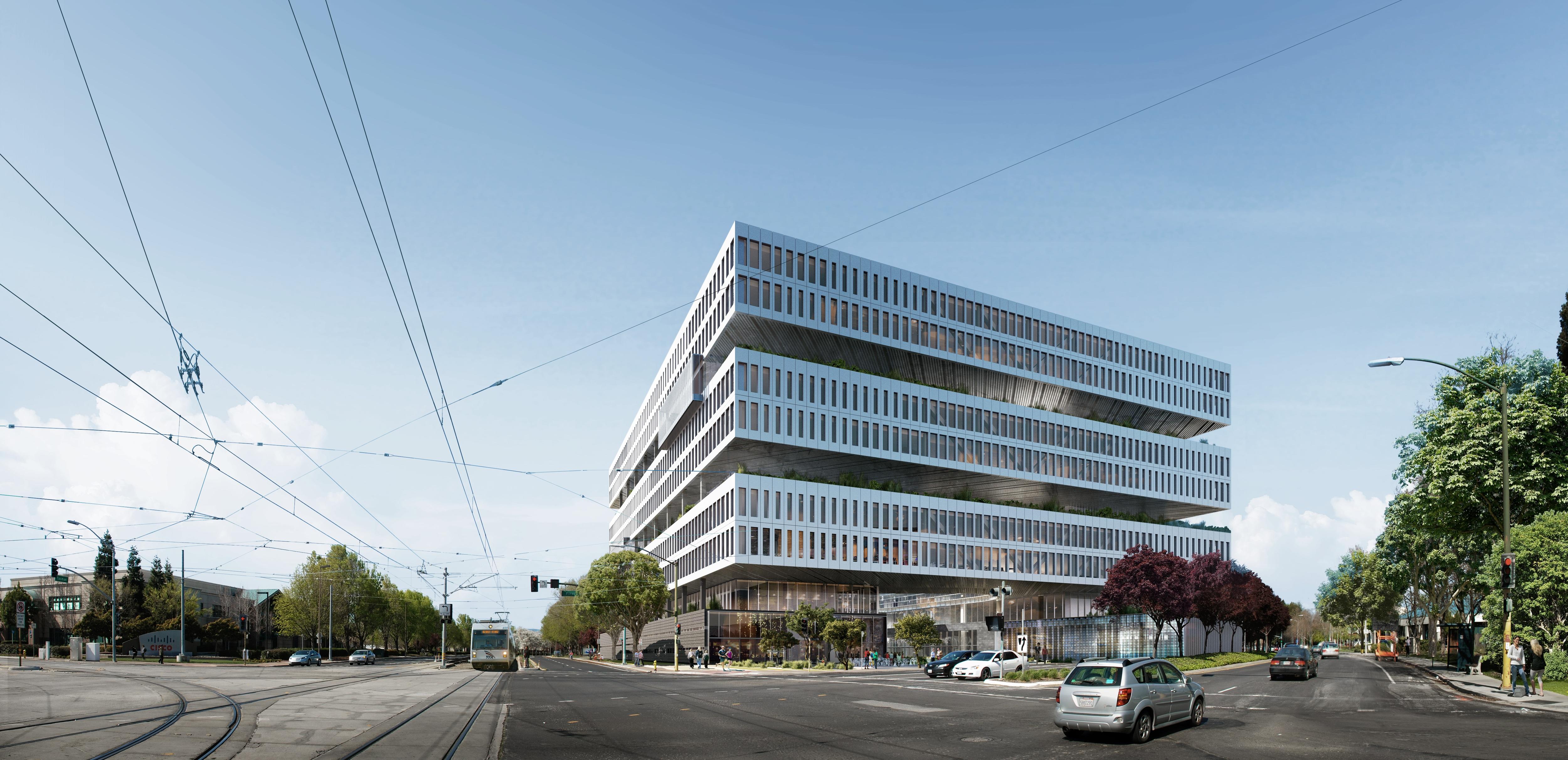 Một vài hình ảnh về quá trình xây dựng trụ sở của Samsung tại Mỹ: