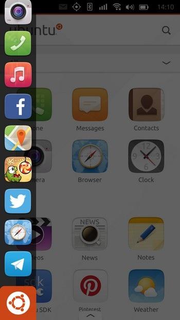 Thanh sidebar chứa các ứng dụng trên Ubuntu