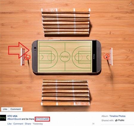 Hình ảnh nhầm lẫn tai hại được HTC đăng tải lên trang Facebook của hãng