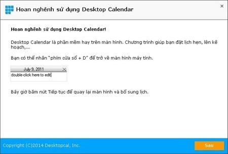 DesktopCal - Tờ lịch đa dụng và hữu ích cần có trên Windows