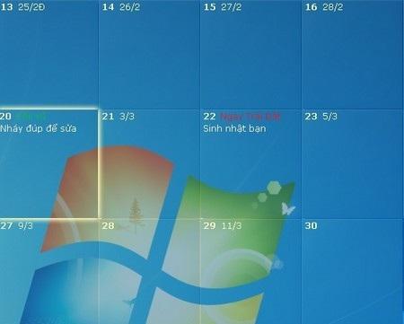Ẩn DesktopCal khỏi màn hình desktop