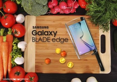 Galaxy Blade edge là sự kết hợp giữa smartphone và dao làm bếp
