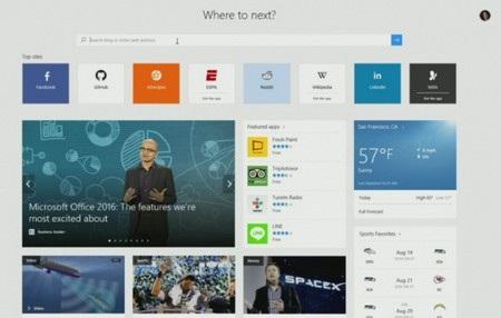 Giao diện trang tab mới mỗi khi được mở trên trình duyệt Microsoft Edge