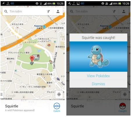Trò chơi bắt Pokemon trên bản đồ Google Maps vào năm ngoái