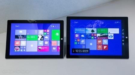 Surface 3 (trái) và Surface Pro 3 (phải)