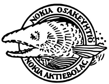 Logo đầu tiên của Nokia Ab, tiền thân của Nokia ngày nay