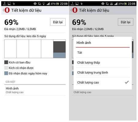 Giúp tiết kiệm dung lượng 3G khi duyệt web trên smartphone