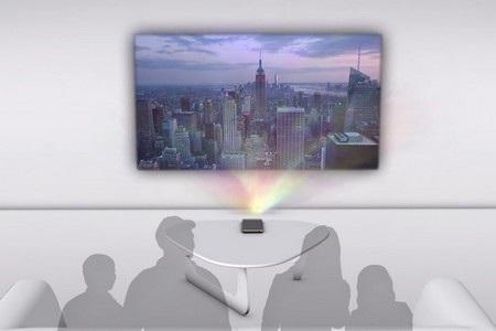 Đèn chiếu trên Smart Cast có thể biến mọi bề mặt phẳng thành màn hình cảm ứng