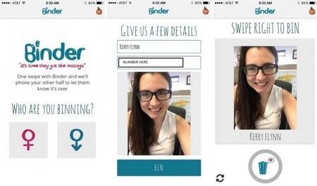 Binder giúp người dùng nói ra lời chia tay một cách dễ dàng hơn