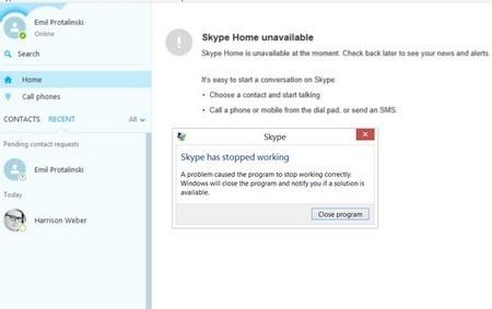 """Skype trên Windows bị ngưng hoạt động ngay khi nhận được đoạn tin nhắn """"độc"""""""