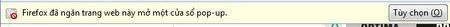 """Nhấn vào nút """"Tùy chọn"""" và cho phép mở pop-up từ"""