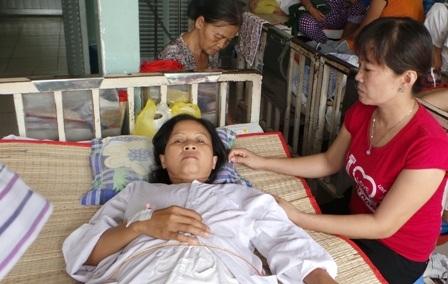 Bệnh nhân điều trị ung thư vú tại bệnh viện Ung Bướu