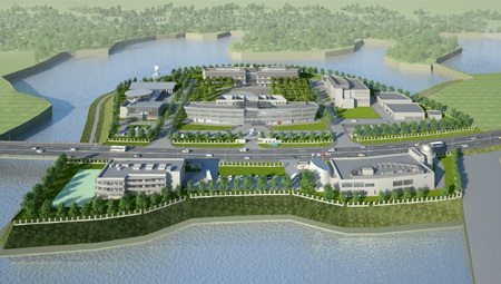 Mô hình Trung tâm Vũ trụ Việt Nam tại Hòa Lạc