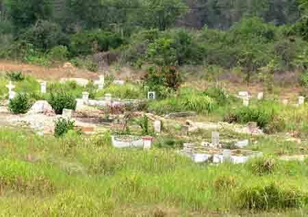 Khu nghĩa trang tử tù ở Long Bình