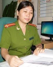 Trung tá Nguyễn Thị Hồng Thanh.