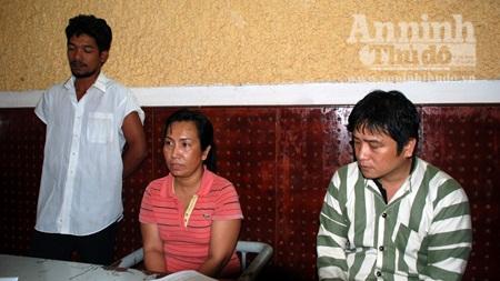 Các đối tượng trong vụ án tại cơ quan CSĐT Công an tỉnh Đắk Nông.