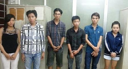 Các đối tượng trong 2 băng nhóm cướp giật