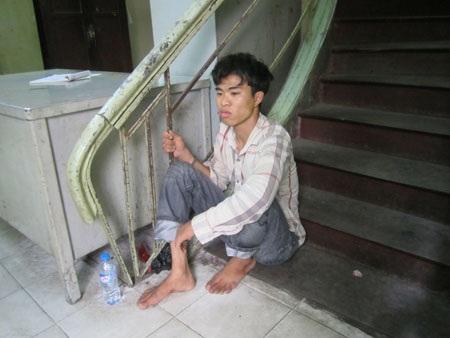 Đối tượng Nguyễn Văn Kim tại cơ quan công an