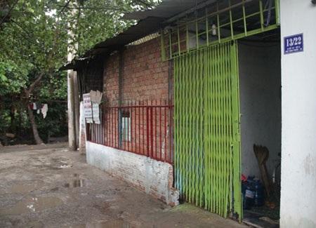 Khu nhà trọ nhà Tuyền, nơi xảy ra vụ việc.