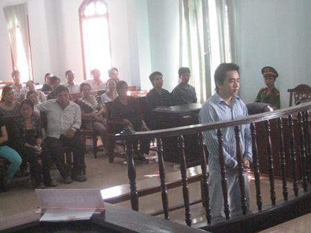 Bị cáo Lê Thanh Cường trước tòa