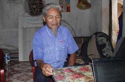 Ông Phạm Công Uynh, người gặp hung thủ trước khi y tự sát tại chùa Đông Sơn chiều 11/9.