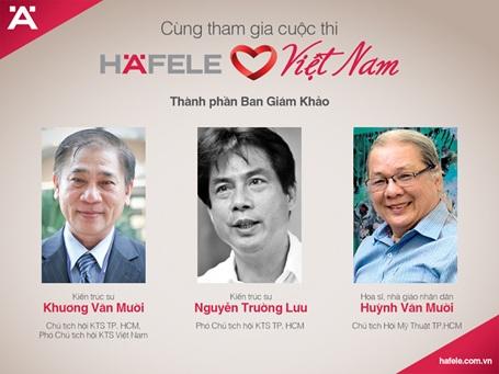 """Ban giám khảo dày dặn kinh nghiệm và đầy tâm huyết với nghề thiết kế của """"Häfele ♥ Việt Nam"""""""