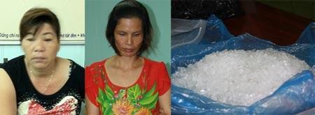 Các đối tượng và tang vật thu giữ vụ ma túy đá Hải Phòng
