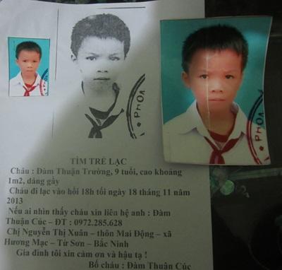 Gia đình đã đăng thông báo tìm trẻ lạc nhiều tháng nay nhưng vẫn bặt vô âm tín