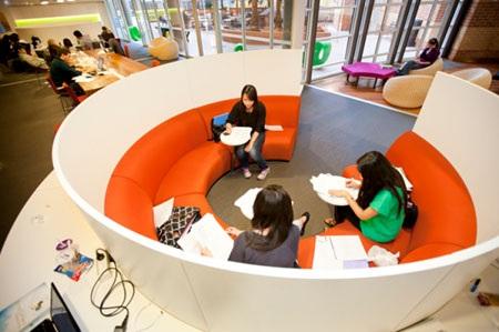 Họa tiết ấn tượng của thiết kế nội thất tại tòa nhà Kỹ thuật và Công nghệ UTS