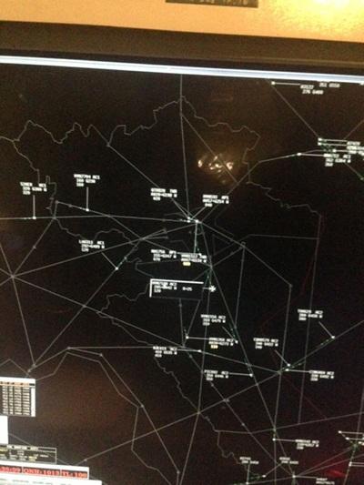 Màn hình rada của ACC Hà Nội vào giờ cao điểm