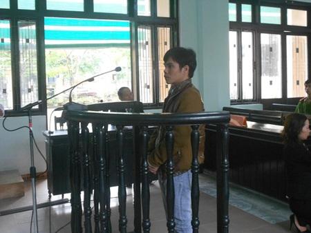Bị cáo Hoàng Trọng Bảo tại tòa