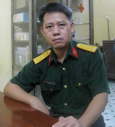 Bác sỹ, đại úy Nguyễn Duy Ngọc. (Ảnh: Nguyễn Cường/Vietnam+)