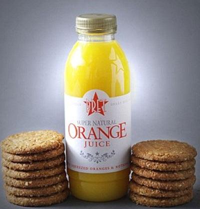 Lượng đường trong 1 chai nước cam này tương đương với 13 cái bánh quy (51g đường)