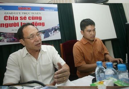 Phó Chủ tịch Thường trực Tổng Liên đoàn Lao động Việt Nam Nguyễn Hòa Bình: