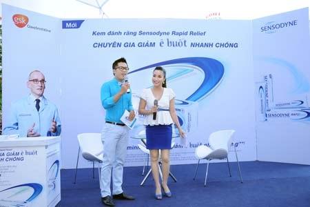 """Ốc Thanh Vân khoe vẻ tự tin tại """"Ngày hội thử thách ê buốt"""""""