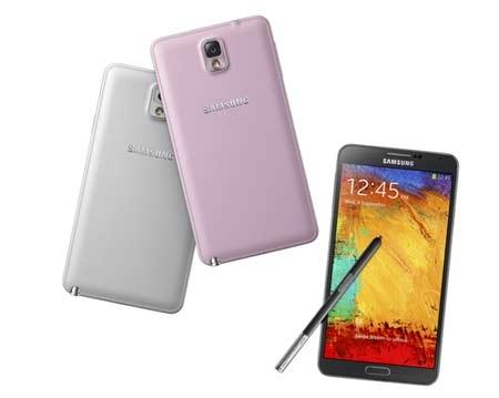 Galaxy Note 3 với lưng được bọc da