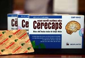 CERECAPS – Hoạt huyết, Tăng cường tuần hoàn não