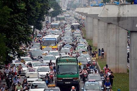 Ùn tắc giao thông, cảnh thường thấy ở Hà Nội