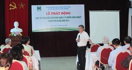 Hà Nội: Phát động Cuộc thi tìm kiếm giải pháp quản lý ô nhiễm công nghiệp
